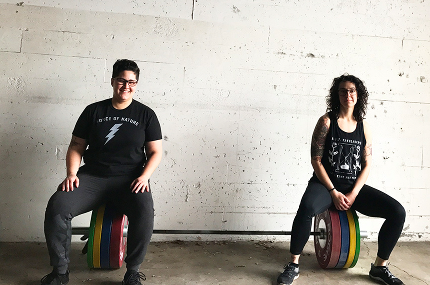 Lacy J. Davis, right, with her business partner at Liberation Barbell, Christina Cabrales