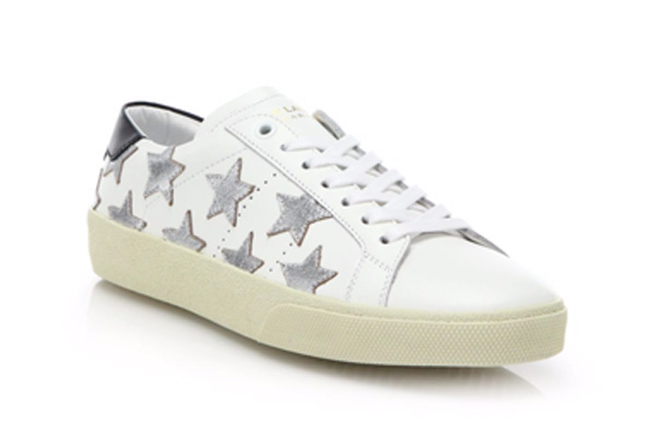 Saint Laurent Court Classic Star Leather Sneakers, $595
