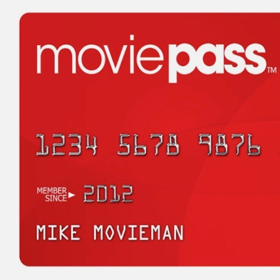 MoviePass subscription, $9.99 a month