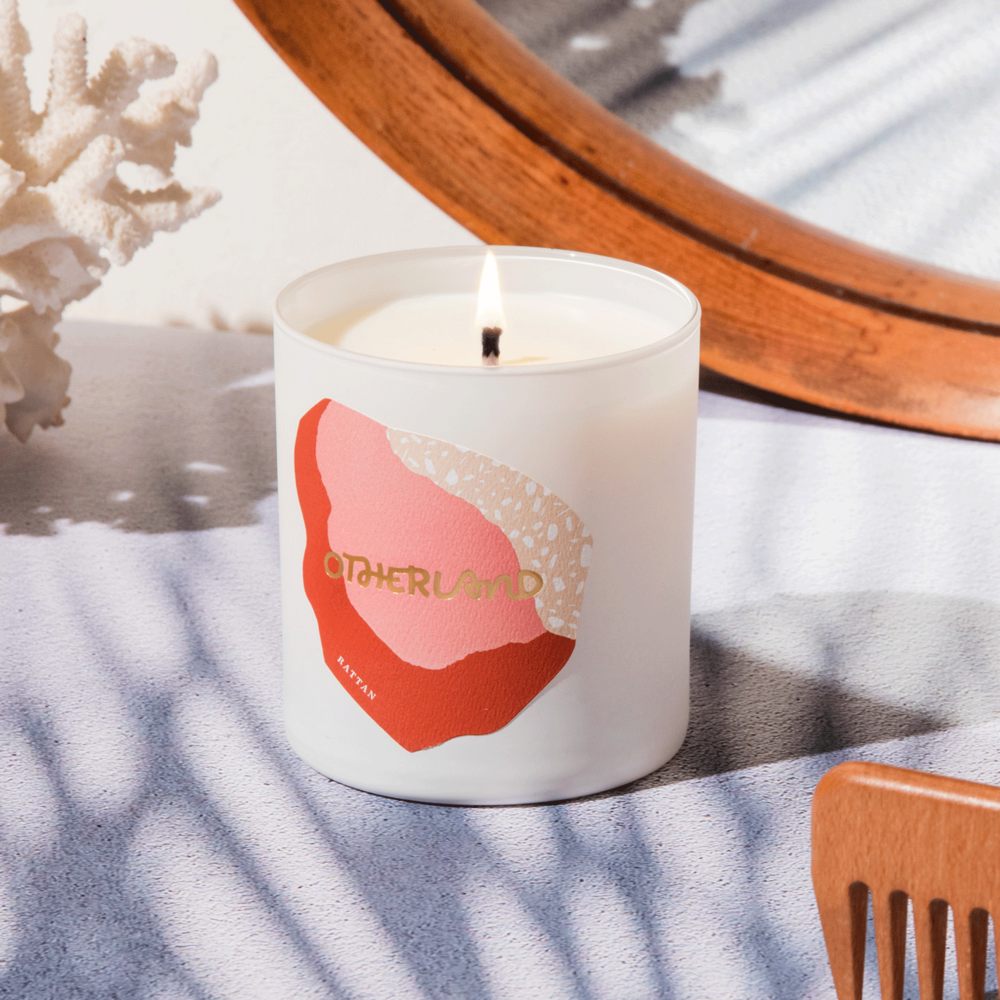 """Otherland """"Rattan"""" candle, $36"""