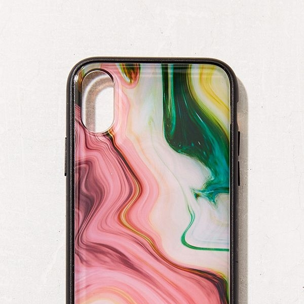 Sonix luxe marble agate iPhone X case, $45