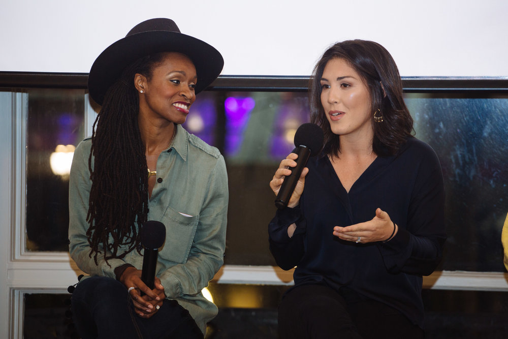 Latham Thomas, left, founder of Mama Glow; and Dr. Emily Kiberd, founder of the Urban Wellness Clinic