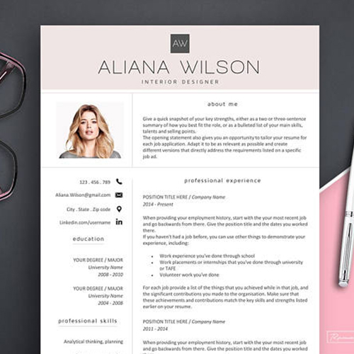 behold  a stunning  creative resume template for every