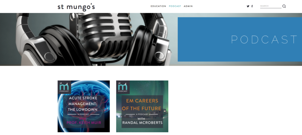 Many thanks to the fantastic Dr Eoghan Colgan for the invitation to speak on his  St. Mungo's Podcast . Follow the highlighted link to the podcast on EM careers of the future and other fabulous interviews.