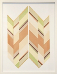 Mallary Johnson,  Re-Collect III.  Plant extracts on woven paper   34 3/4 × 27 1/2 in