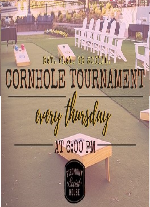 Let's Play Cornhole! - Join us every Thursday evening on our lawn for our weekly cornhole tournament! Sign up will begin promptly at 6 pm and the tournament will start at 6:30. Bring your family and friends for a little friendly competiton! This is a family friendly event, however, to keep things fair we ask that all tournament participants be at least 16 years of age. Upon arrival please check in under the PSH tent on the lawn to enter the tournament. We ask that all intrested participants arrive before 6:15 to ensure a prompt 6:30 tournmant start time. We hope to see you there!