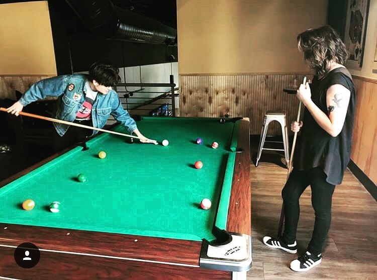 Hey violet playing pool.jpg