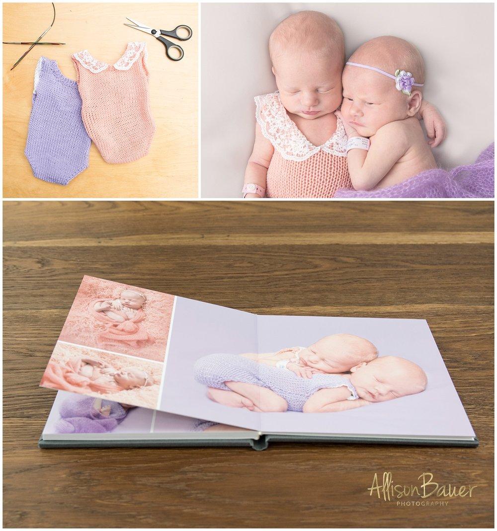 Allison-Bauer-babyfoto-zwillinge
