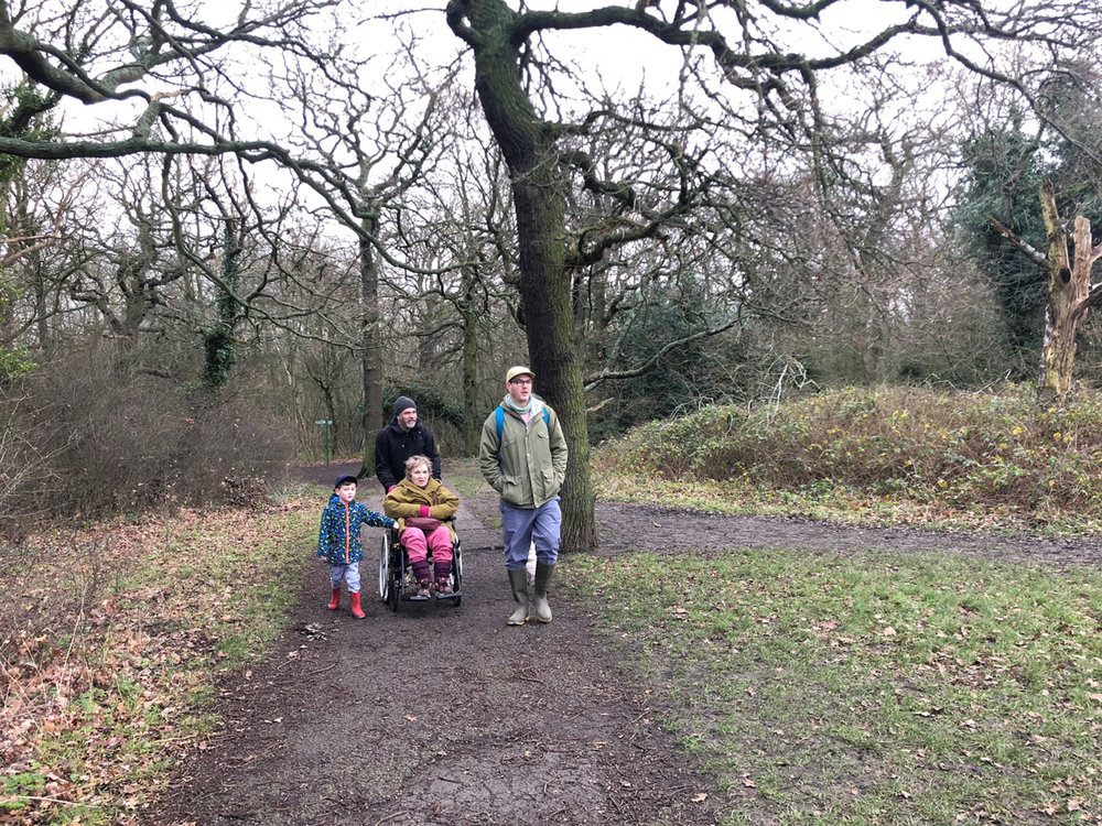 Oxleas Woods (not very wheelchair-friendly)