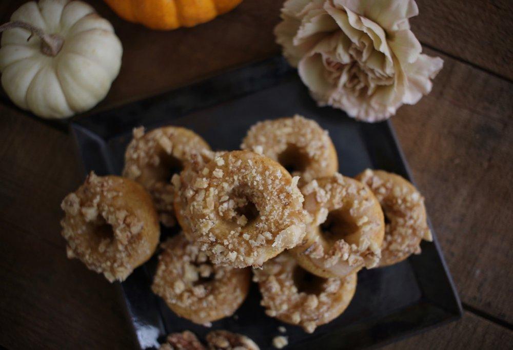 Baked Pumpkin Doughnuts with Maple Walnuts 3| LindenandLavender.jpg