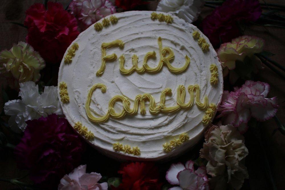 Fuck Cancer Cake | Linden and Lavender