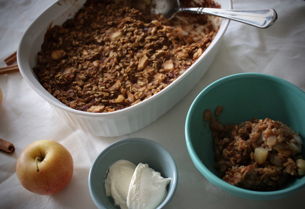 Apple and Pear Baked Oatmeal | Linden & Lavender