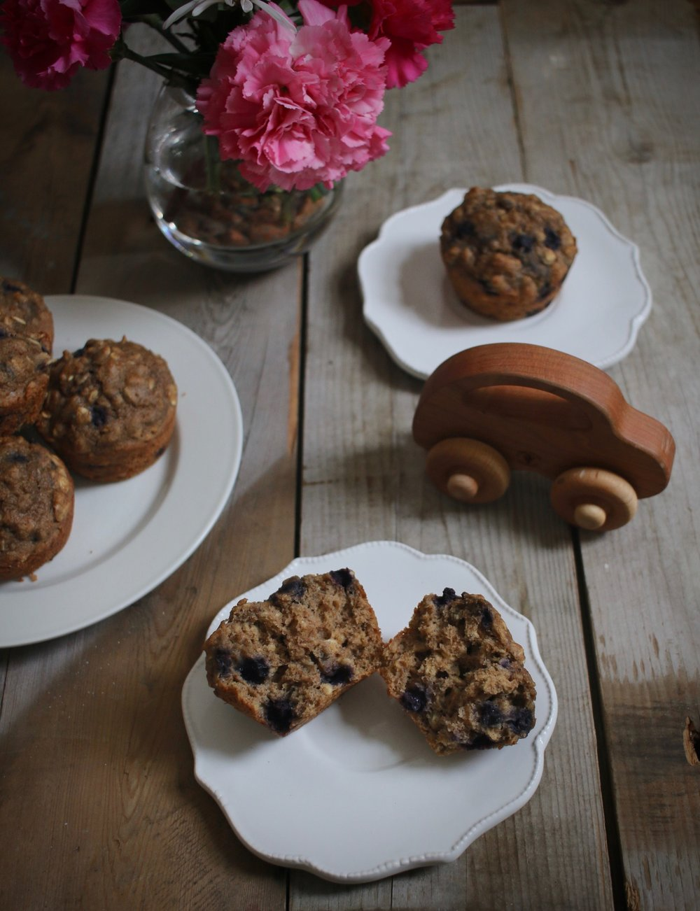 Whole Grain Blueberry Muffins 2 | Linden & Lavender