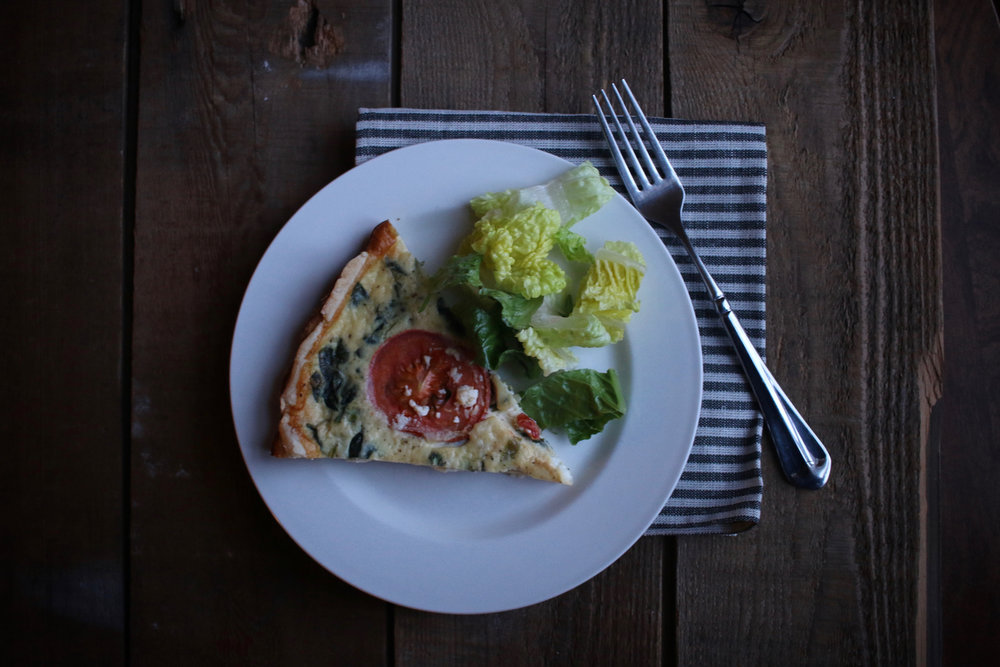 Spinach and Feta Cheese Quiche | Linden & Lavender