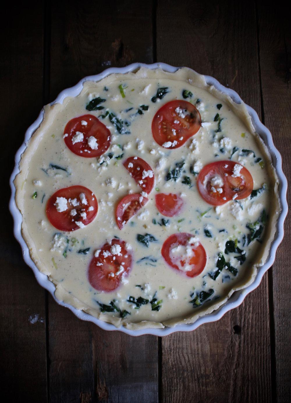 Quiche prior to baking | Linden & Lavender