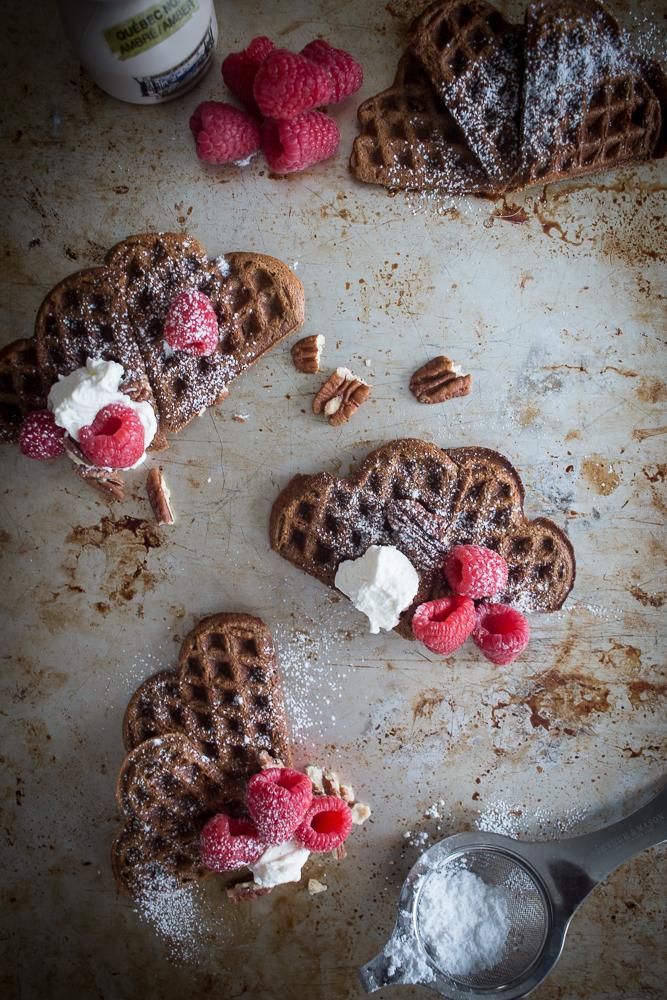 Cinnamon Heart Waffles   Linden & Lavender