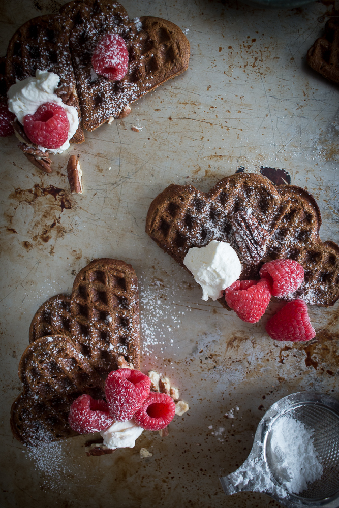 Cinnamon Heart Waffles | Linden & Lavender