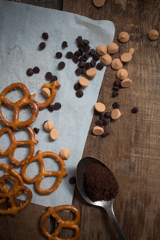 coffee chocolate butterscotch chips pretzels | Linden & Lavender