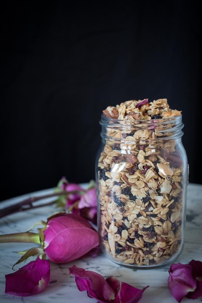 Rose Petal Granola | Linden & Lavender