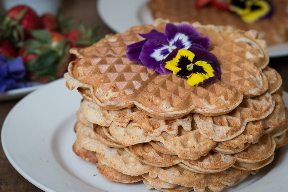 Lemon and Ricotta Cheese Spelt Waffles | Linden & Lavender
