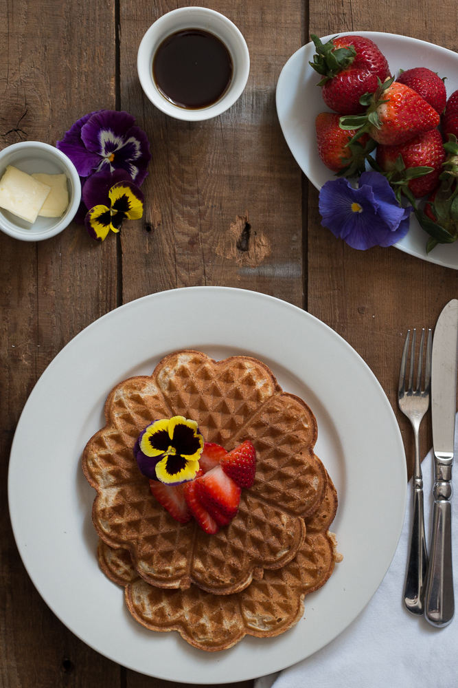 Lemon and Ricotta Waffles | Linden & Lavender
