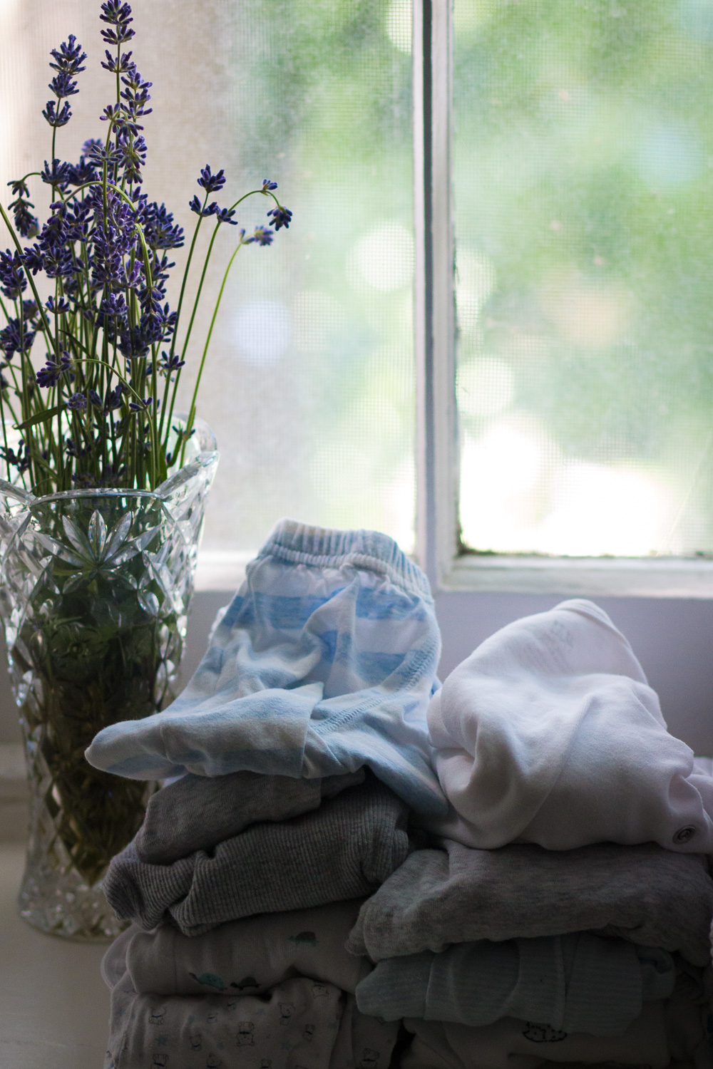 Baby things and lavender | Linden & Lavender