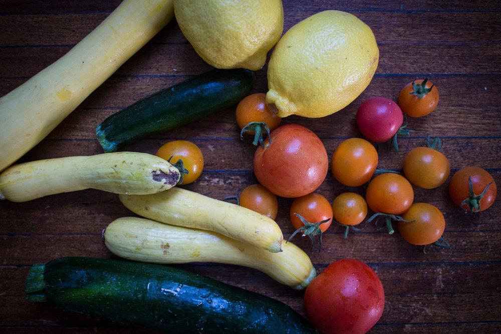 zucchini tomato lemon