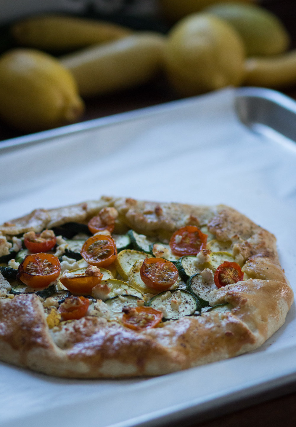 zucchini and feta cheese galette | linden & lavender