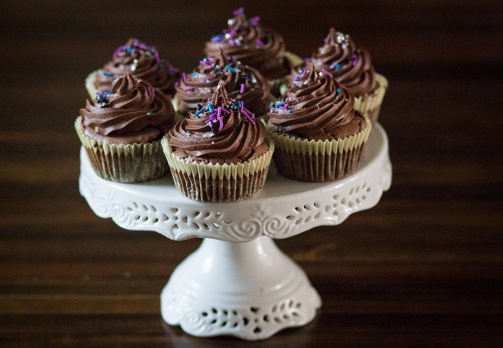 birthday sprinkles cupcakes
