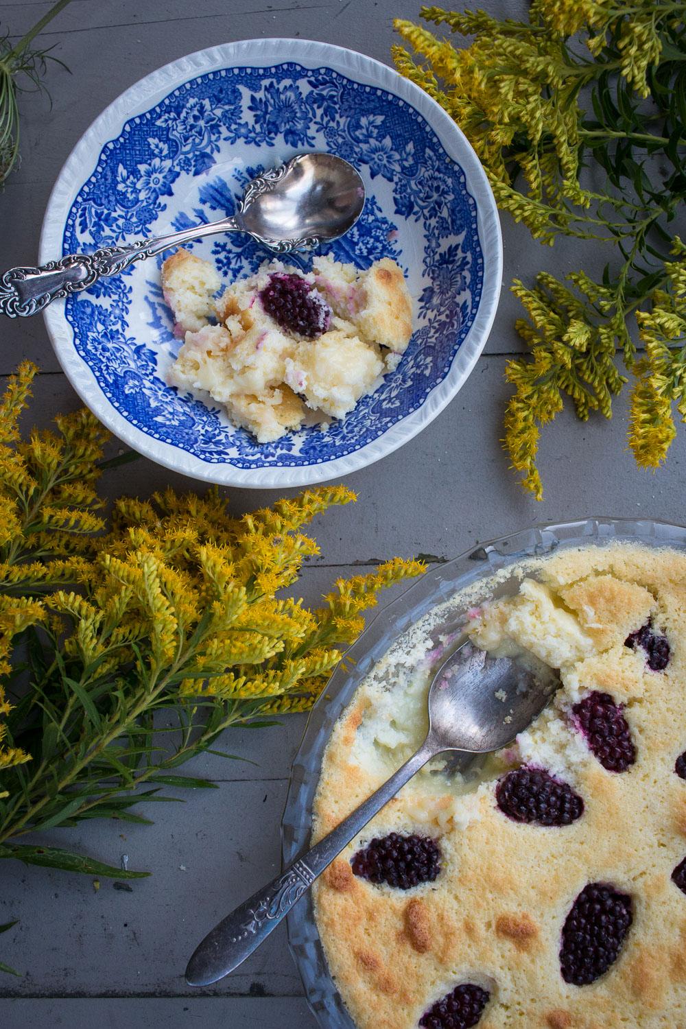 lemon-blackberry custard | Linden and Lavender