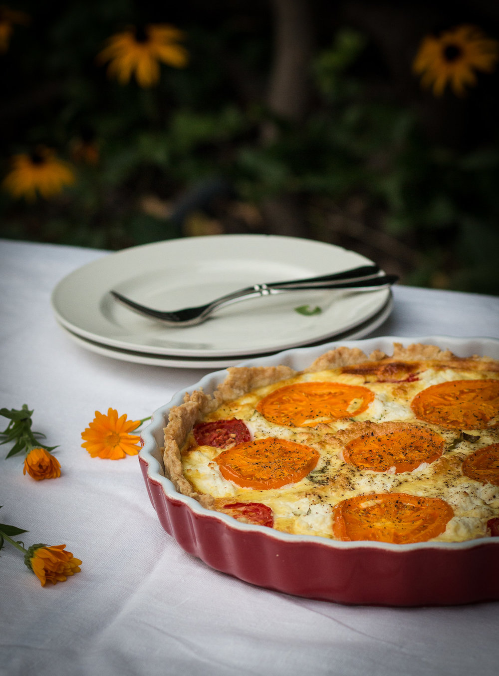 tomato ricotta cheese pie