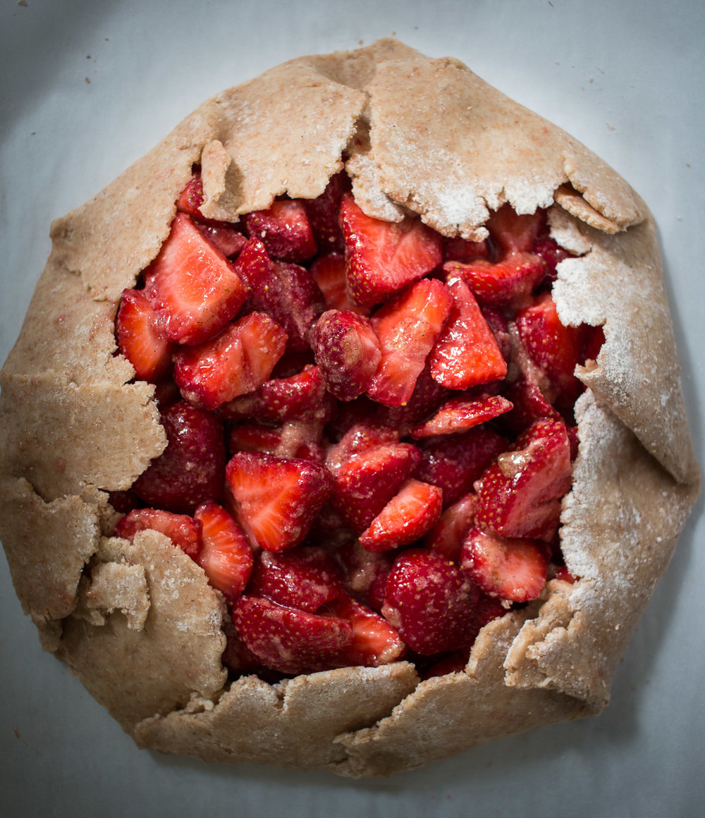unbaked strawberry galette