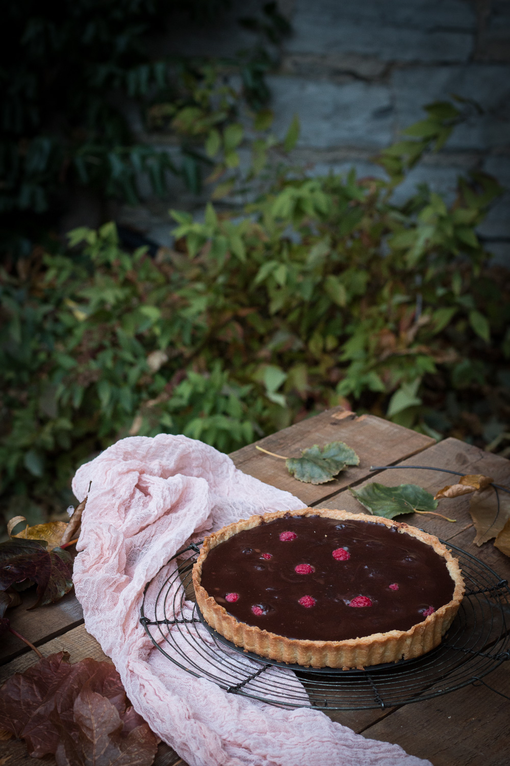 Fudgy chocolate and raspberry tart | Linden & Lavender