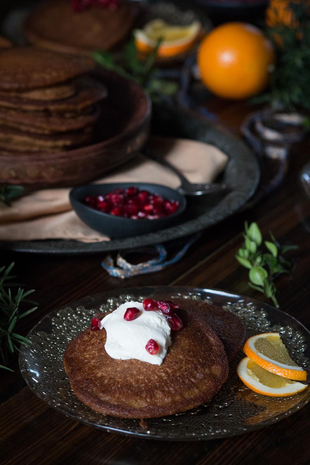 kamut pumpkin pancakes | Linden & Lavender