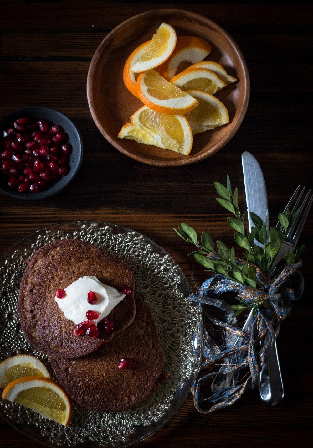 kamut flour pumpkin pancakes | Linden & Lavender