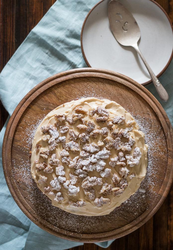 Coffee Walnut Cake | Linden & Lavender