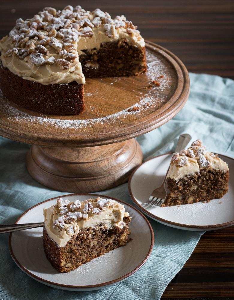 Coffee Walnut Cake Recipe | Linden & Lavender
