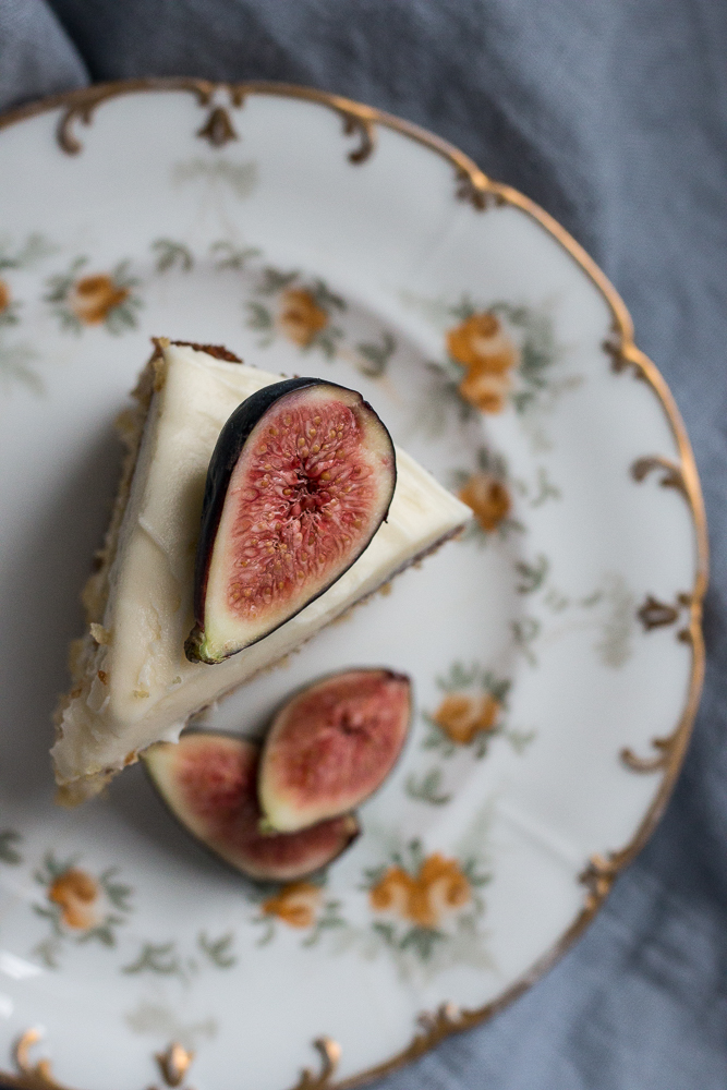 Earl Grey Cake with Figs | Linden & Lavender