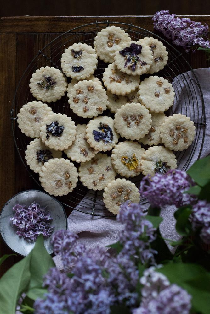 Lilac Pressed Shortbread | Linden & Lavender