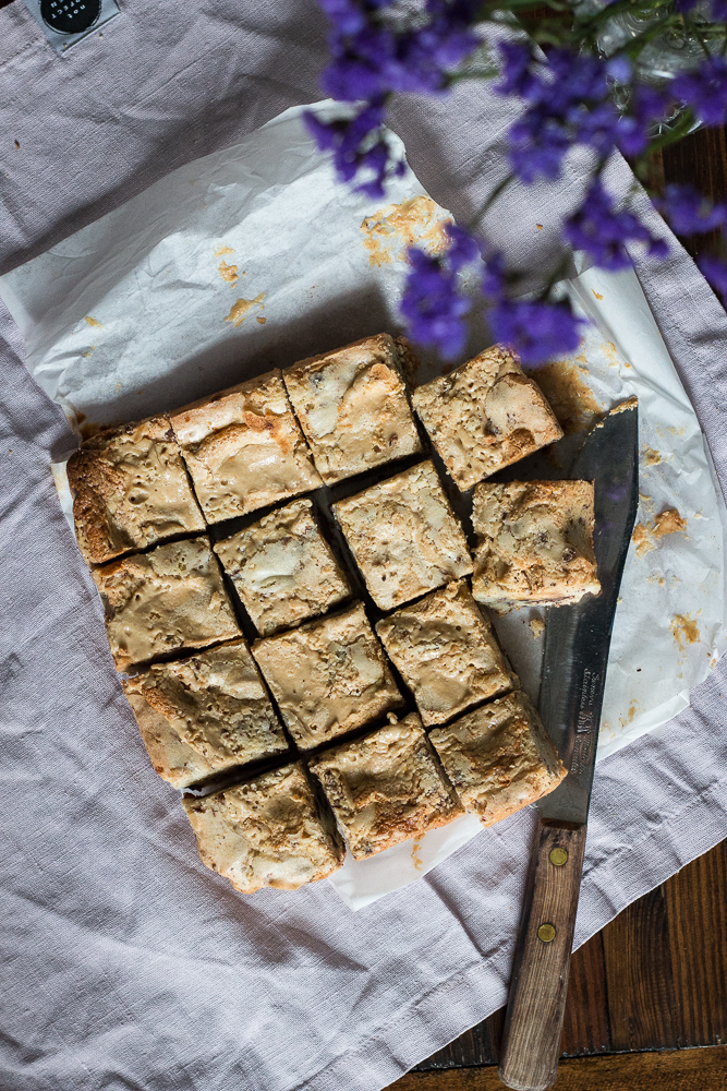Tahini and Halva Blondies