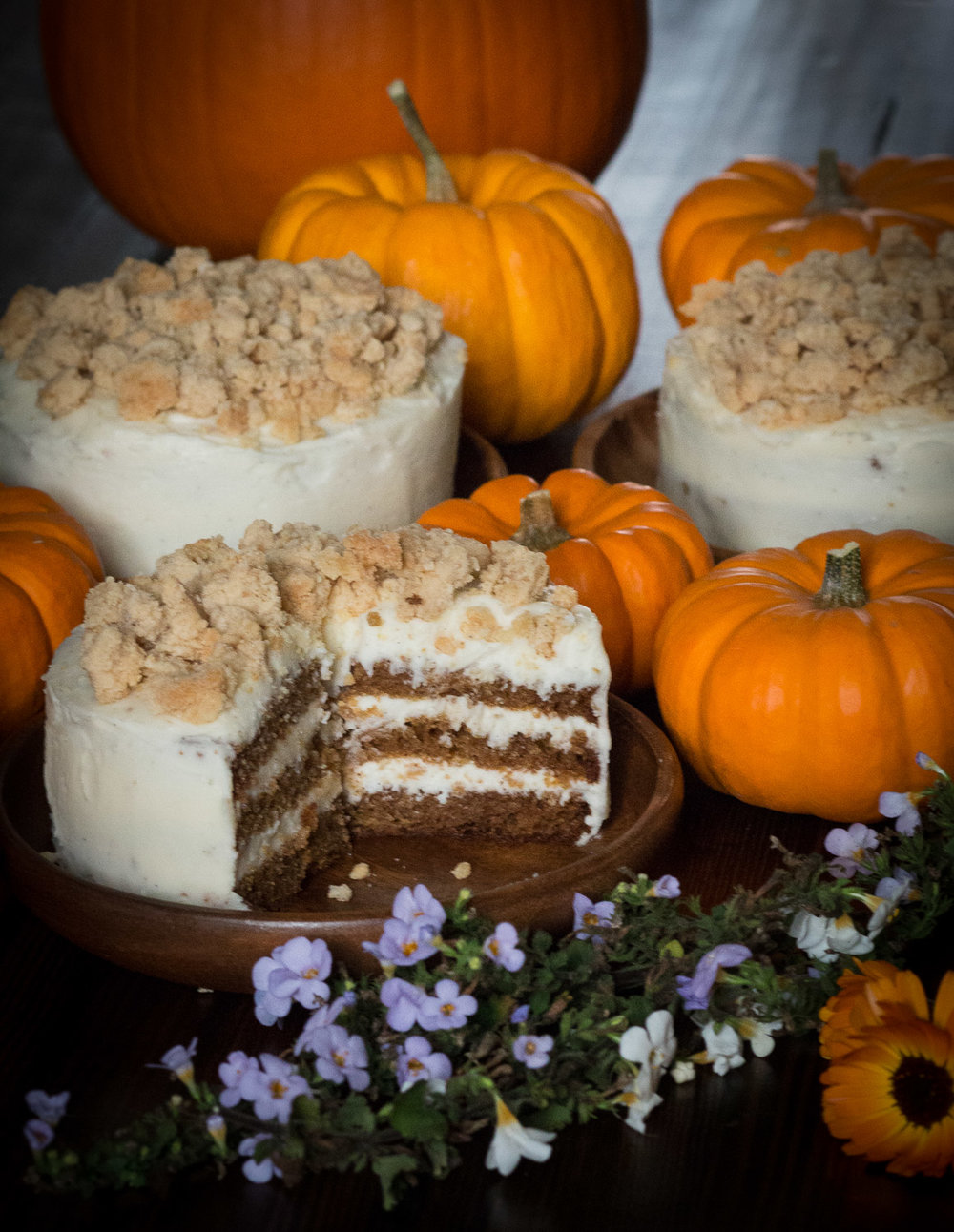 Mini pumpkin maple crunch cakes   Linden & Lavender