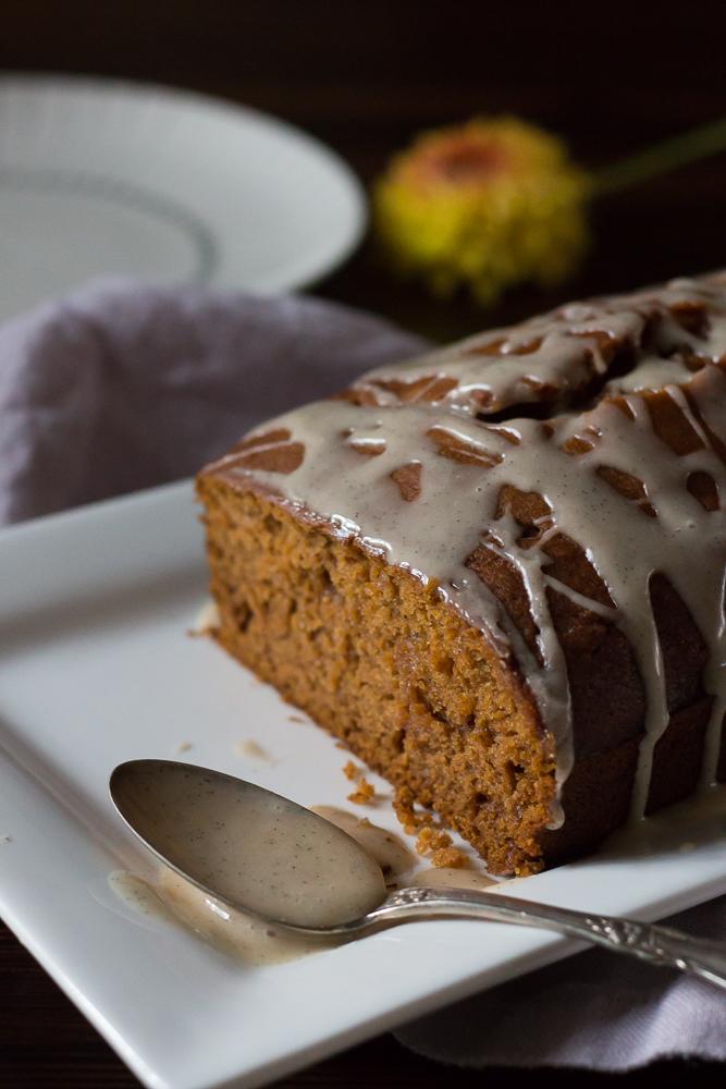 Pumpkin Loaf with Vanilla Glaze   Linden & Lavender