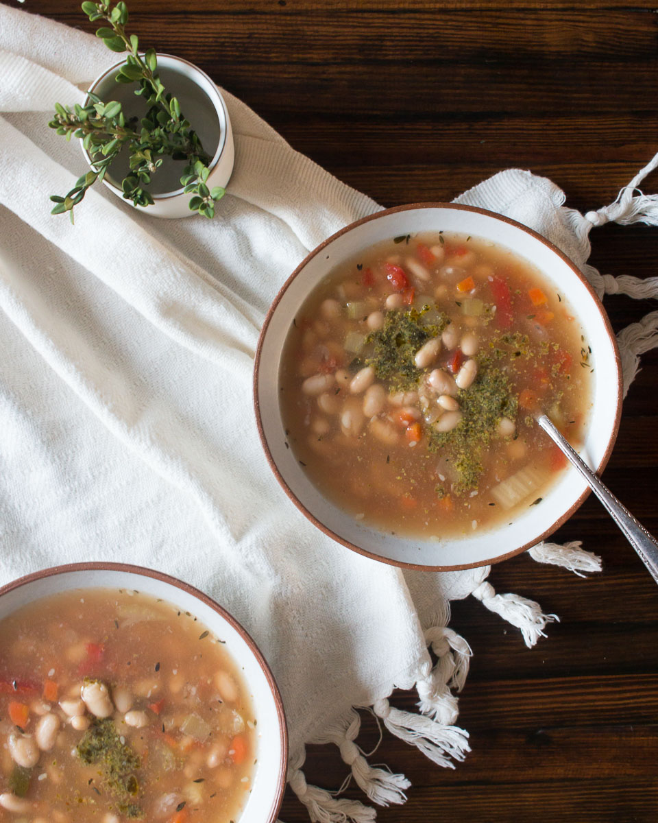 Slow Cooker Butter Bean Minestrone Soup