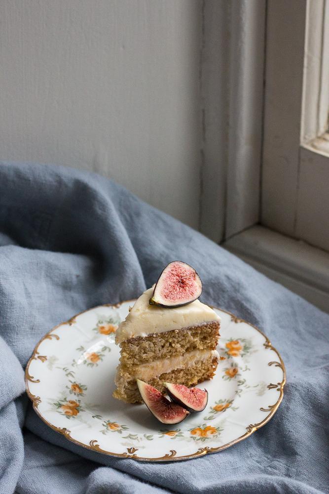 Earl Grey Cake with Honey Cream Cheese Icing