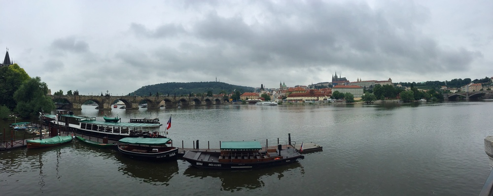 Here is the Charles Bridge...and then in the very back you can see Prague Castle peaking out.