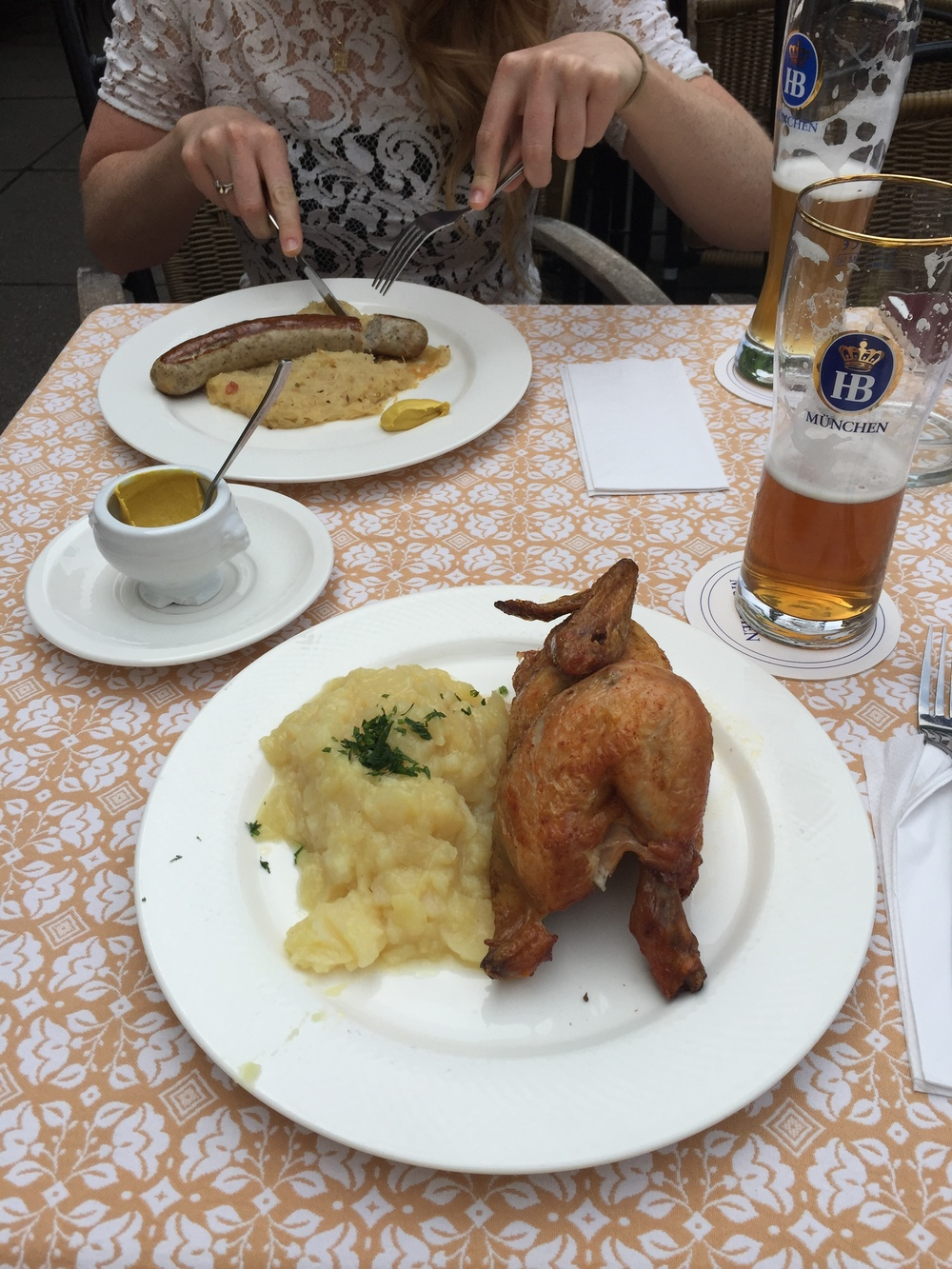 The food was so good at Hofbrauhaus!!!!