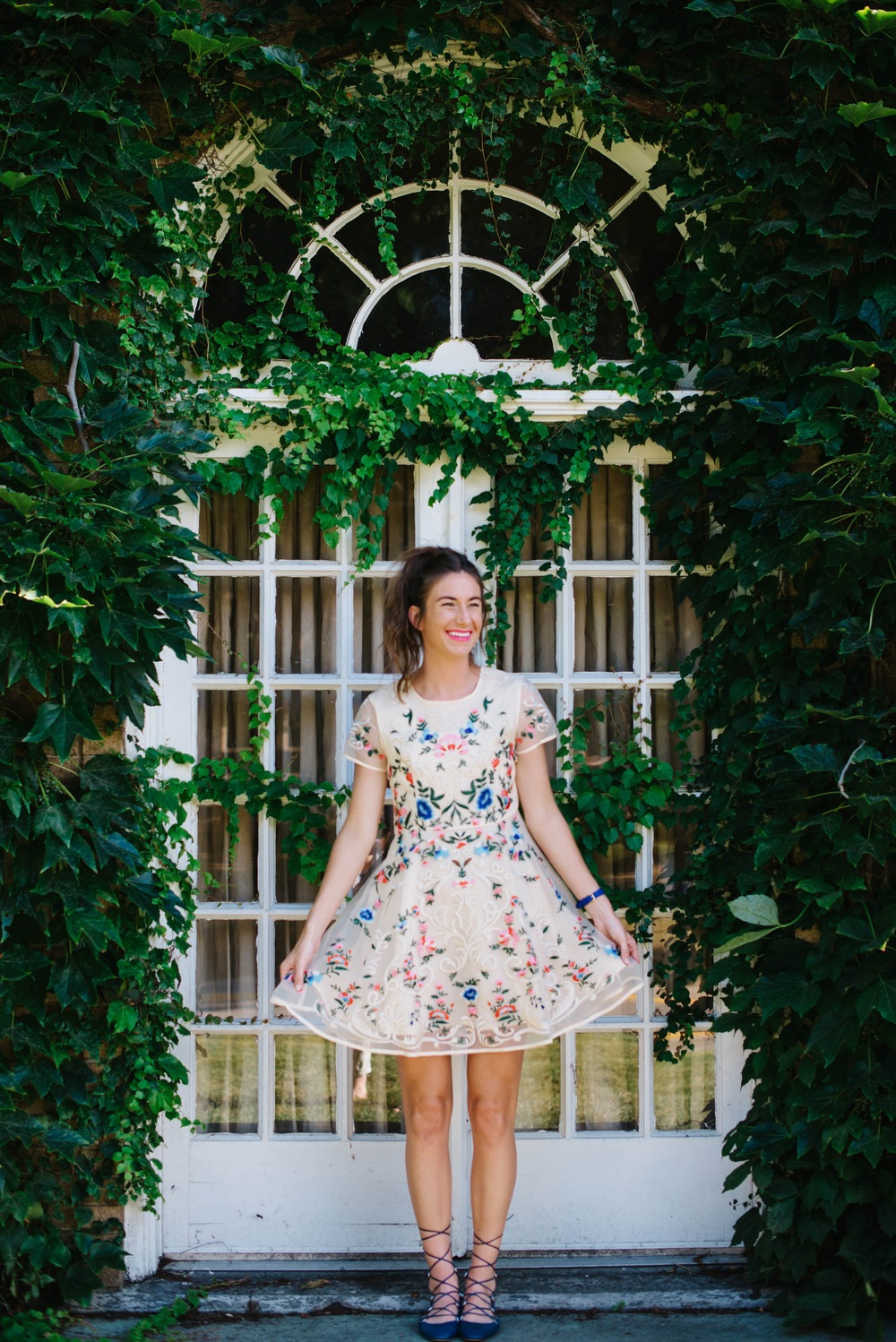 garden floral party day dress