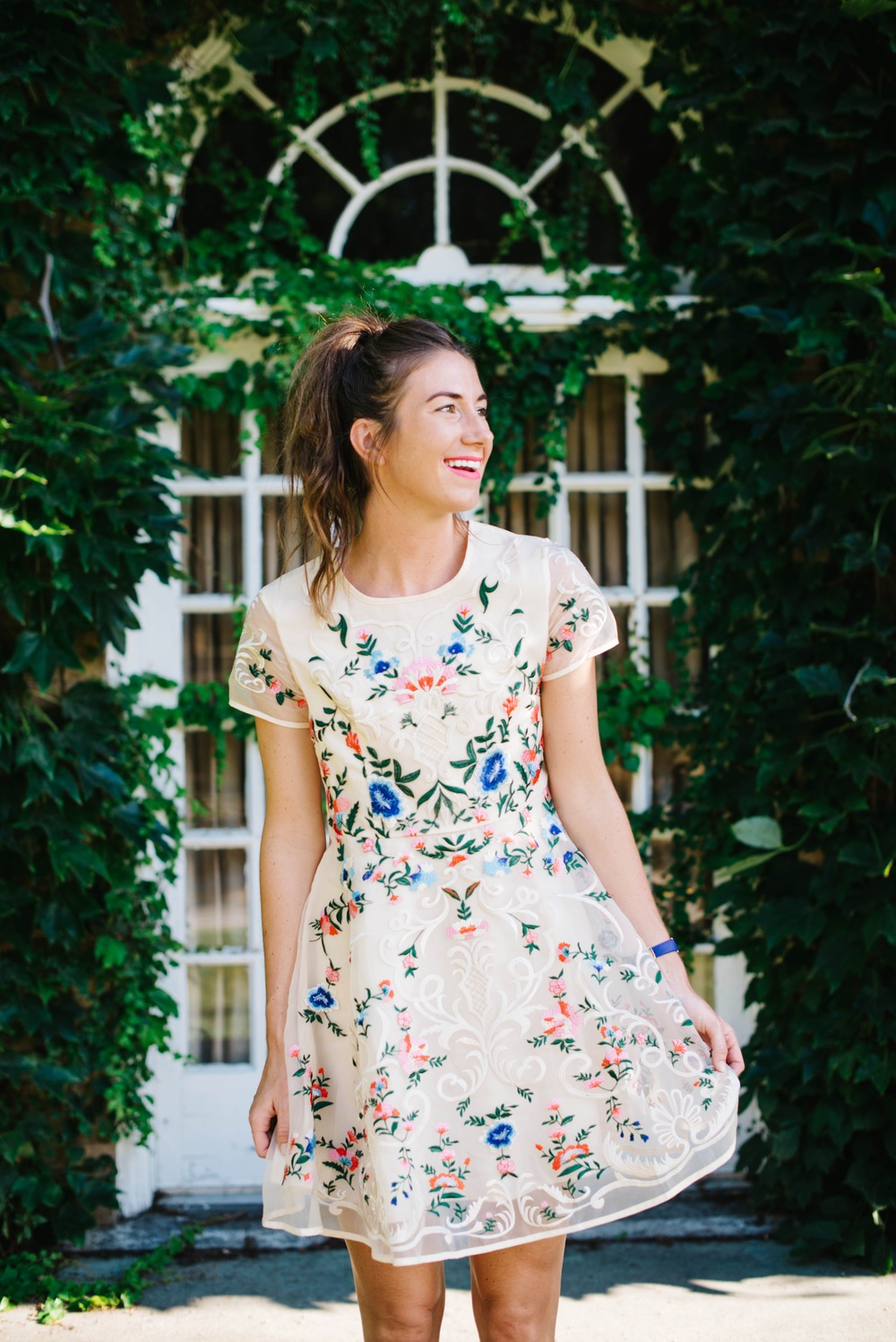 garden floral party day dress kate spade watch lace up shoes