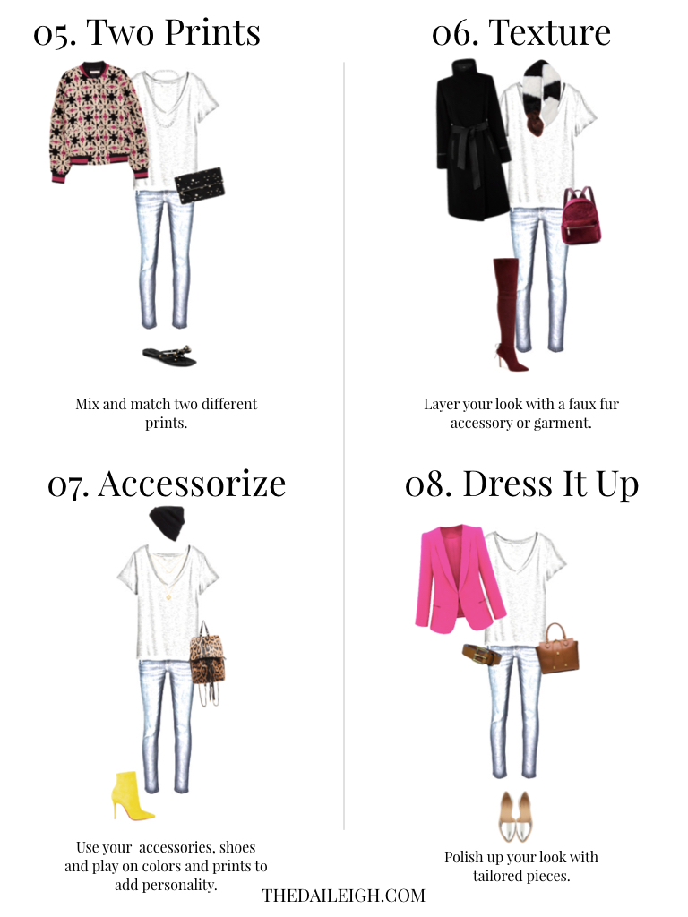 11 Ways To Update A Tee and Jeans Outfit