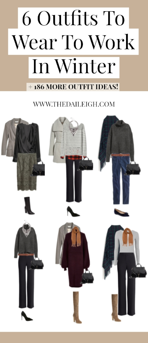 6 Outfits To Wear To Work In Winter